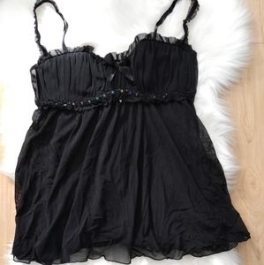 Frederick's of Hollywood black negligee